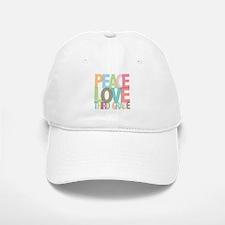 Peace Love Third Grade Baseball Baseball Cap
