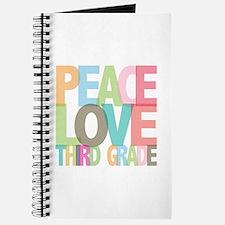Peace Love Third Grade Journal