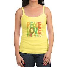 Peace Love Third Grade Jr.Spaghetti Strap