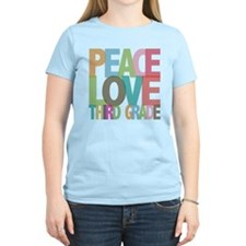 Peace Love Third Grade T-Shirt