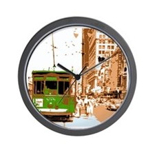 New Orleans Streetcar Named D Wall Clock