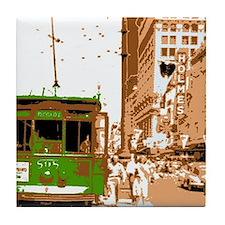 New Orleans Streetcar Named D Tile Coaster