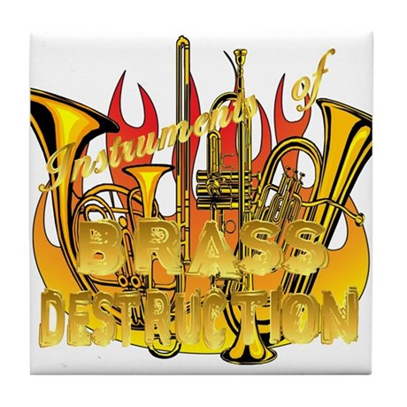 Instruments of Brass Destruct Tile Coaster