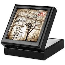Arc de Triomphe Sepia Postcard Keepsake Box