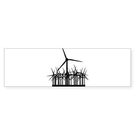 Environment Wind Power Bumper Sticker