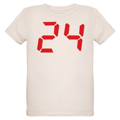 24 twenty-four red alarm cloc Organic Kids T-Shirt