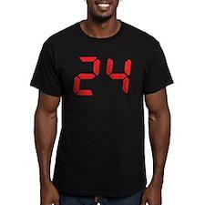 24 twenty-four red alarm cloc T