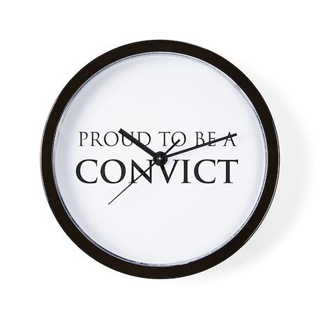 Proud Convict Wall Clock