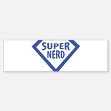 super nerd icon Bumper Sticker (10 pk)