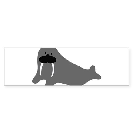 comic walrus icon Bumper Sticker