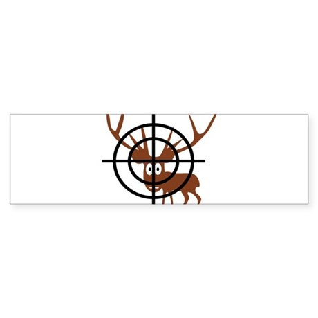 Deer Hunter Crosshair Bumper Sticker
