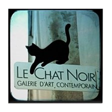 Le Chat Noir Paris Tile Coaster