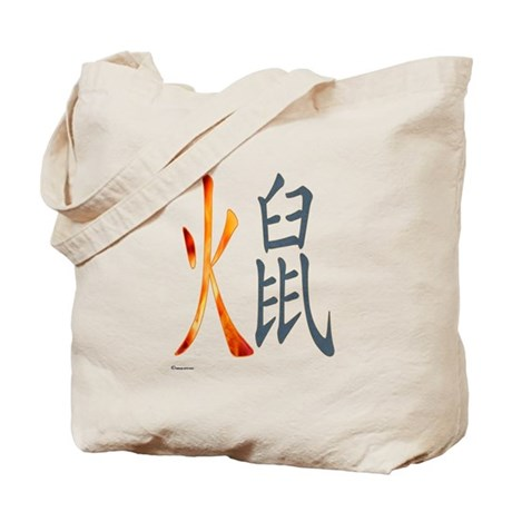 Chinese Fire Rat Tote Bag