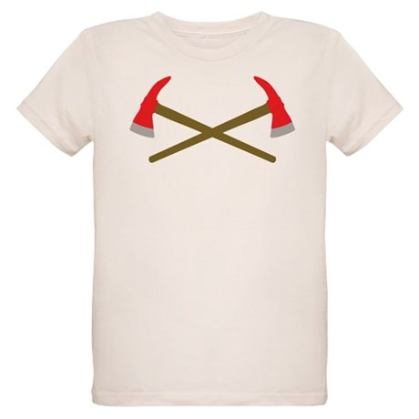 firefighter ax crossed Organic Kids T-Shirt