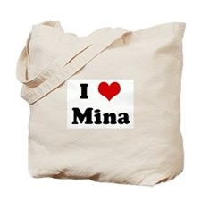 I Love Mina Tote Bag