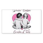 grandma of twins Sticker (Rectangle 10 pk)