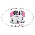 grandma of twins Sticker (Oval 10 pk)