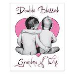 grandma of twins Small Poster