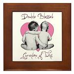 grandma of twins Framed Tile