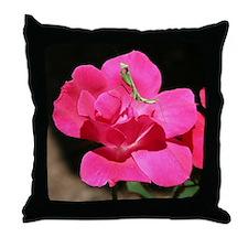 Rosy Mantis Throw Pillow