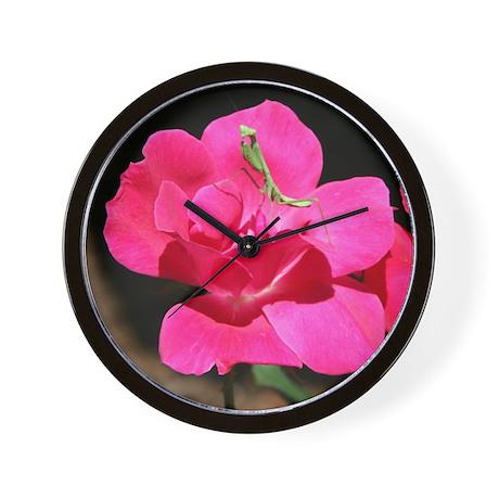 Rosy Mantis Wall Clock
