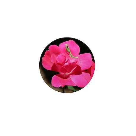 Rosy Mantis Mini Button