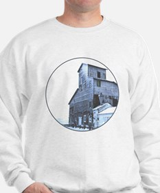 The grain elevator in winter Sweatshirt