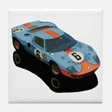 Cute Race car Tile Coaster