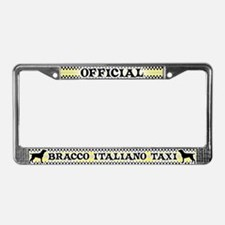 Official Bracco Italiano Taxi License Plate Frame