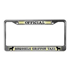 Official Brussels Griffon Taxi License Plate Frame