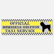 Official Brussels Griffon Taxi Bumper Bumper Bumper Sticker