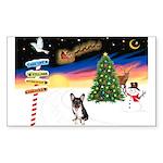 XmasSigns/Corgi Pup (Z) Rectangle Sticker
