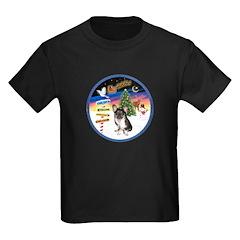 XmasSigns/Corgi Pup (Z) Kids Dark T-Shirt
