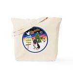 XmasSigns/Corgi Pup (Z) Tote Bag