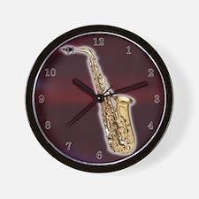 Alto Saxaphone Wall Clock