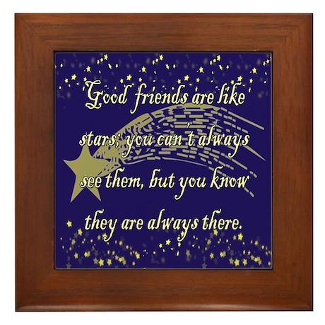 Friends are like Stars Framed Tile