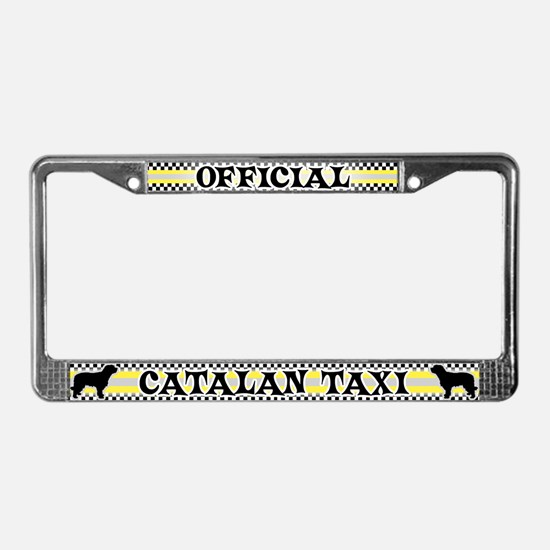 Official Catalan Taxi License Plate Frame