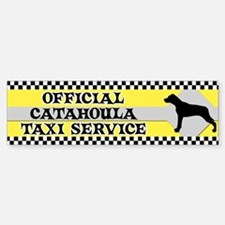 Official Catahoula Taxi Bumper Bumper Bumper Sticker