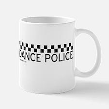Dance Police Black and White Mug