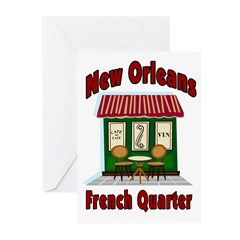 New Orleans French Quarter Cafe Greeting Cards