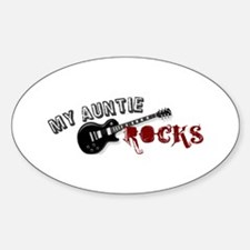 My Auntie Rocks Oval Decal
