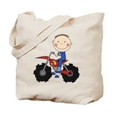 Motocross Racing Blue Tote Bag