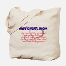 missionary mom Tote Bag
