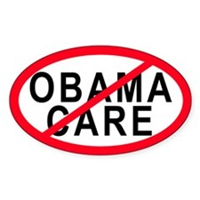 Obama Care Oval Decal
