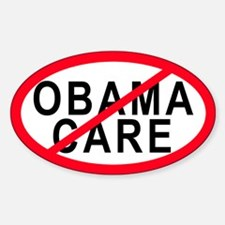Obama Care Oval Decal