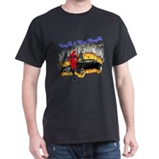 Black T-Shirt  Toyz 4 Big Boyz DrakWing Angel