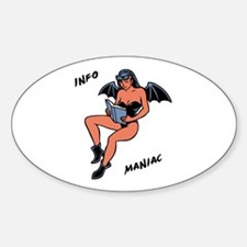 Info Maniac Oval Decal