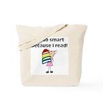 Girl Smart Reader Tote Bag