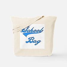 School Bag Blue Text Tote Bag