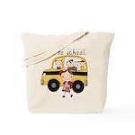 Girl I Go To School Tote Bag